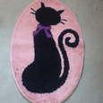 黒猫マット